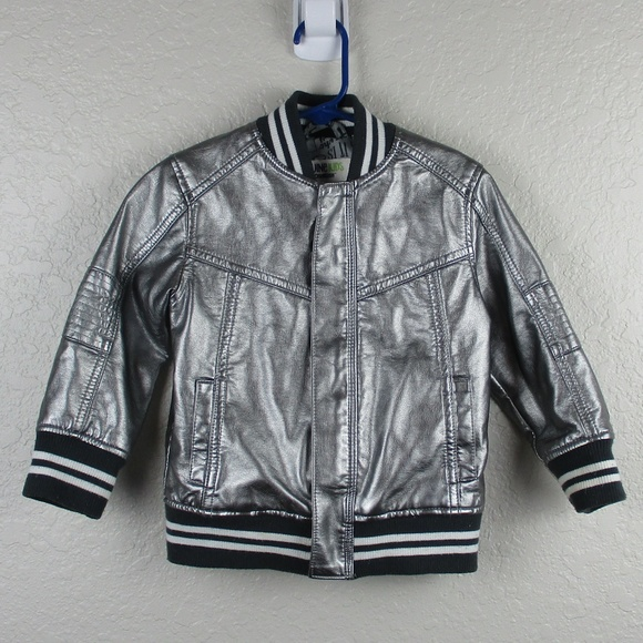 93c5ee0bc OshKosh Genuine Kids 2T Metallic Silver Jacket